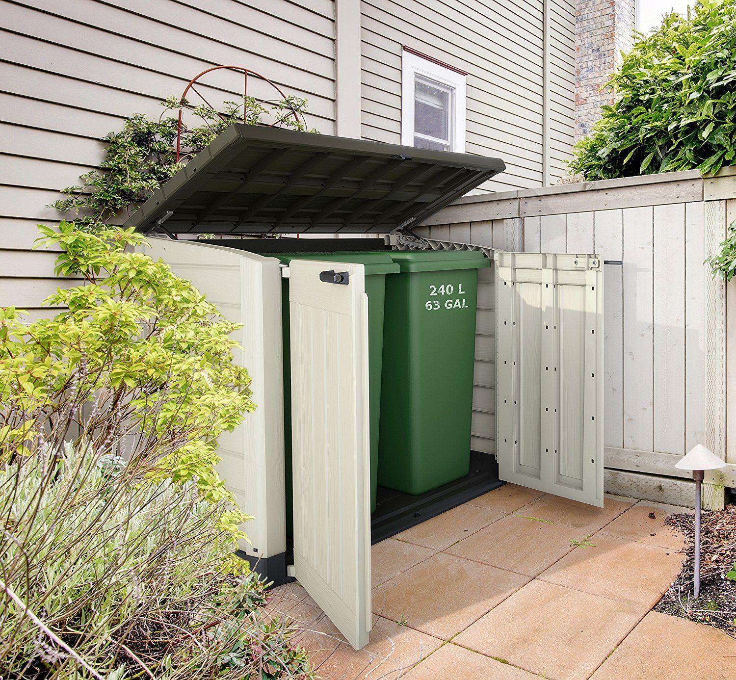 Keter Store It Out Max for storing 2 wheelie bins