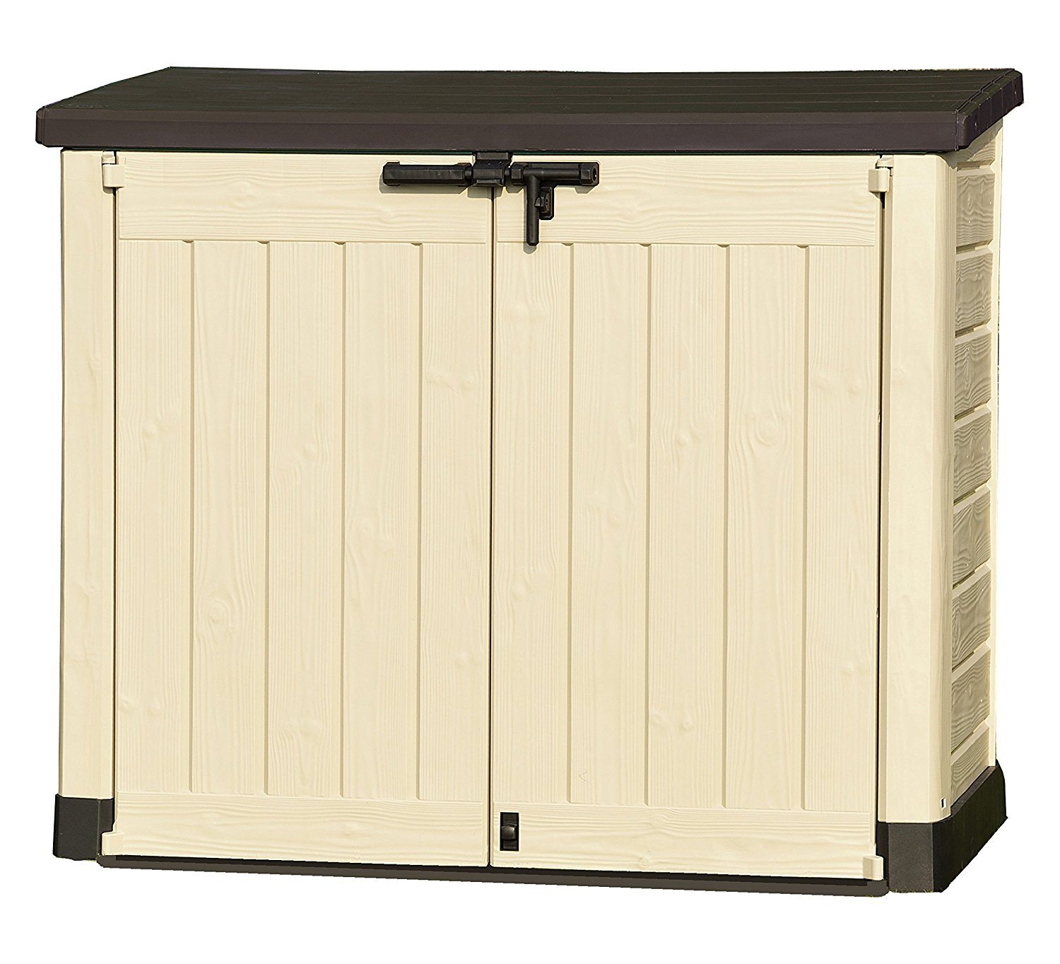 keter store it out max outdoor plastic garden storage shed uk review. Black Bedroom Furniture Sets. Home Design Ideas