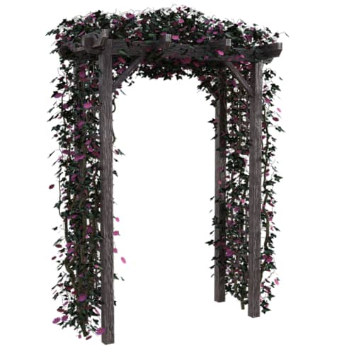 garden arch made from wood