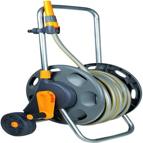 a garden hose cart