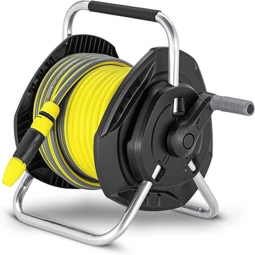 a garden hose reel